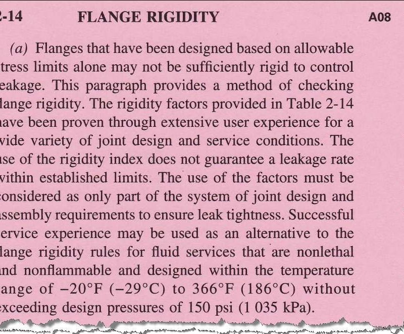 Appendix-2 Flange Rigidity per 2008 Addenda: